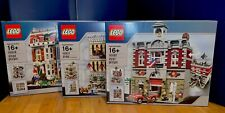3 NEW Lego MODULAR BUILDINGS 10197 10211 10218 Fire Brigade 🏬Emporium Pet Store