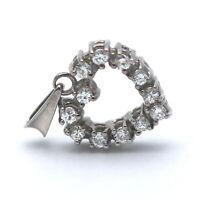 Brillant Herz Anhänger 585 Gold 14 Karat 0,20 Ct Diamant Weißgold Wert 480,-