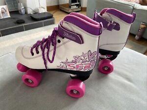 White Girls roller skates size 5