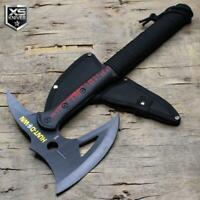 "16"" Black Tactical TOMAHAWK Throwing Axe ZOMBIE Survival Battle HATCHET + Sheath"