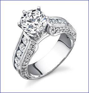 Gorgeous Large 1.50ct Diamond PLATINUM 950 Designer Engagement Semi Mount