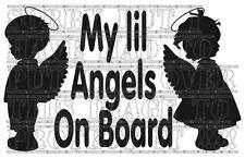 Il mio Lil Angeli Baby Bambini Kids Boy Girl gemelli a bordo adesivo in vinile Segno POSTERIORE
