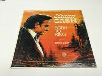 Johnny Cash - Born to Sing featuring Jeannie C. Riley  LP Record Retro Vintage