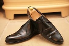 Vintage Bally Mens Made In Italy Black Leather Derby Shoes Size UK 8