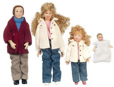 Dollhouse Miniature - G7634 - Porcelain Doll Family - Set/4 - Blonde