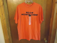 "No Boundaries Mens 100% Cotton Size M "" NWT "" Orange Halloween T-Shirt "" GREAT"