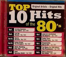 Top 10 Hits of the 80s, CD, new & sealed, Blondie/Benatar/Idol/Wilde/Vapors/etc