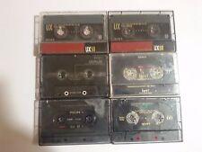 Lot x6 USED SONY UX UX-S UX-Pro UCX Esprit 50 60 70 90 Vintage Compact Cassette