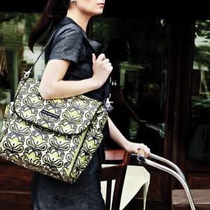 Petunia Pickle Bottom diaper bag boxy Backpack Messenger Dancing In Dublin Green