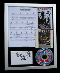 ERASURE+SIGNED+FRAMED+INNOCENTS+A LITTLE RESPECT=100% AUTHENTIC+FAST GLOBAL SHIP