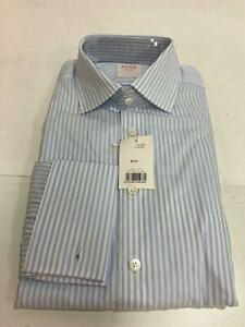 NEW Thomas Pink - Blue Stripe L/S shirt Mens Sz 16/41R Classic RRP$269