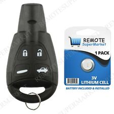 Replacement for Saab 2003-2009 9-3 9.3 2003-2007 9-5 9.5 Remote Car Key Fob