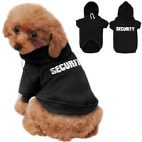 SECURITY Dog Coats Chihuahua Clothes Sweatshirt Jacket Hoodie for Pet Puppy Cat