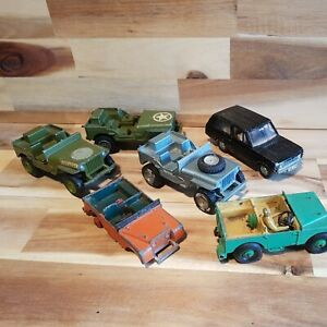 Dinky toys . vintage toy cars, spares or repair. Land rover RANGE rover jeeps