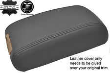GREY REAL LEATHER ARMREST LID COVER FITS HYUNDAI TUCSON 2004-2012