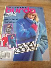 MAGAZINE BURDA COUTURE FACILE DUFFLE COAT LE COUNTRY ROBE DU SOIR E907 1987