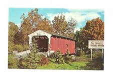 LANCASTER PA Willows Covered Bridge Vintage Postcard