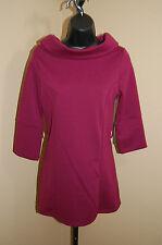 BCBG MAXAZRIA Knit Stretch Cowl Neck 3/4 Sleeve Tunic Top/Mini Dress~NEW~XS
