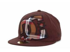 DC Shoes Hedland Chocolate Brown New Era 5950 Fitted Flat Bill Brim Hat Cap 71/8