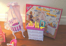 Gloria Dollhouse Furniture Size Baby Home Nursery W/Crib Playset 9929 For Dolls