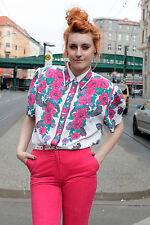 Bluse Hemd blouse shirt Blumen Paisley Muster 90er True VINTAGE 90´s Fashion