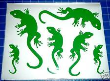 6 GECKOS window baby kids room wall art car caravan stickers decals. 26 colours!