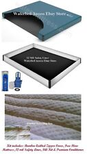 Super Single Free Flow Waterbed Mattress, Bamboo Zipper Cover, Liner & Fill Kit
