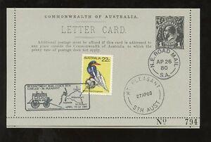 AUSTRALIA 1980 KG5 LETTERCARD MAIL COACH GAWLER ROAD MAIL