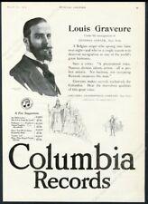 1919 Louis Graveure photo Columbia Records vintage trade print ad