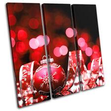 Baubles Decorations Christmas TREBLE LONA pared arte Foto impresion
