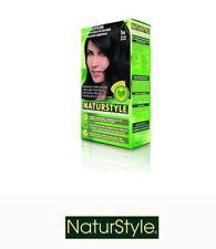 1 x NATURSTYLE NATURTINT Permanent Hair Colourant / Colour - EBONY BLACK 1N