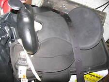 "16"" Abetta BLACK Super Cushion BRUSHPOPPER Endurance Trail Saddle Flex Tree QH"