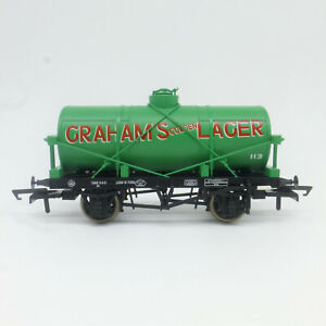Oxford OO Gauge Graham's Golden Lager 12t Tank Wagon (OR76TK2006) - Brand New
