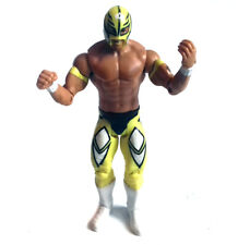 "WWF WWE Wrestling REY MYSTERIO Yellow Costume Mattel  6"" action figure toy NICE"