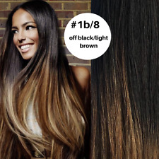 Pre Bonded Nail U Tip Hair extensions 1G 100% Remy, Ombre #1B/8
