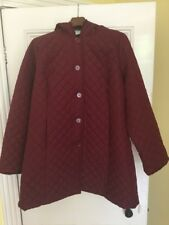 Dennis Basso Quilted Jacket with Faux Fur Trim Hood & Cuffs BNWOT 2XL QVC