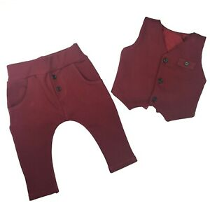 Baby Boys Elegant 2 piece SET Waistcoat Trousers Special occasions Wedding