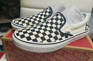 Vans Mens Checkered Slipons 9