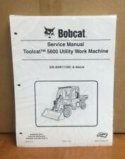 Bobcat Toolcat 5600 Utility Machine Complete Shop Service Manual 4 PN# 6904792