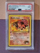 New listing Pokemon Brock's Vulpix #37 1st Edition Gym Challenge PSA 9 Mint