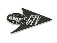 """VW Empi """"GTV"""" Emblem Badge Boot Chrome Volkswagen T1 Special Edition Beetle Bug"""