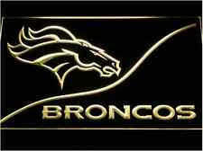New NFL Football Denver Broncos LED Neon Light Signs Bar Man Cave 7 colors