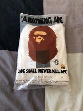 A Bathing Ape BAPE Full Zip Hoodie White Size Large