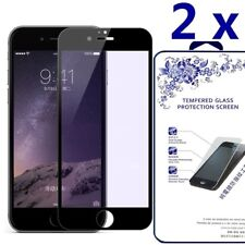 2-Pack For iPhone 8 Plus Full Cover Tempered Glass Screen Protector -Black