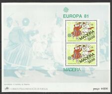 Portugal 1981 - Europa CEPT Madeira S/S MNH