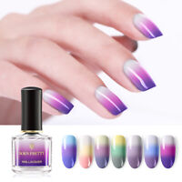 BORN PRETTY Thermal Color Changing Nail Polish 6ml 3 Colors UV Nail Art Varnish
