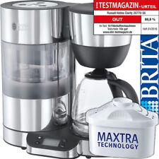 Russell Hobbs Edelstahl Glas Kaffeemaschine Display m. BRITA Wasserfilter System