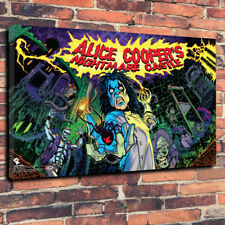 "Alice Cooper pinball verre toile imprimée photo A1.30""x20""x 30 mm Deep"