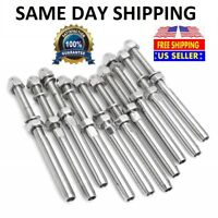 """T316 Stainless Steel Swage Threaded Tensioner End Fittings 1/8"""" Cable Railing."""