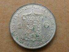 1 gulden, Wilhelmina, 1939, zilver, zeer fraai +